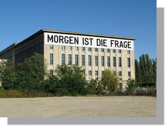Rirkrit Tiravanija, MORGEN IST DIE FRAGE for Studio Berlin 2020 at Berghain (installation rendering)
