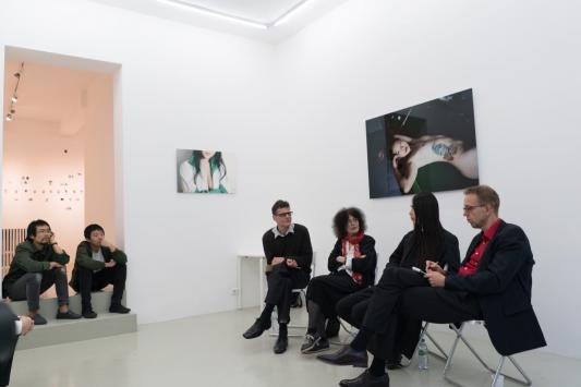 "Artist talk at Edmond Gallery ""Ursula Panhans-Bühler, Ludwig Seyfarth, 9mouth"", 4th of July"