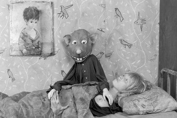 image description: Roger Ballen, Foreplay, 2015, Archival pigment print on Hahnemühe photo rag pearl paper, 43 x 61 cm, Edition of 9