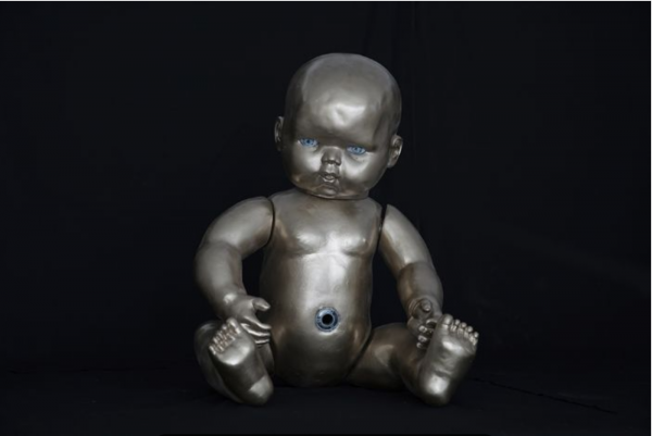 "Azade Köker, ""Puppe"" Polyester and silicone, 80 x 30 x 40 cm"